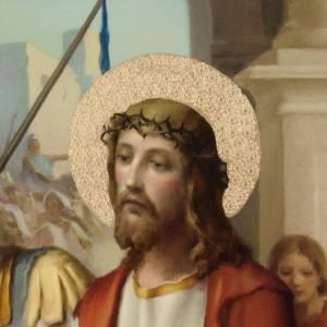 Via Crucis: Quadri Via Crucis legno tipo pittura 15 stazioni