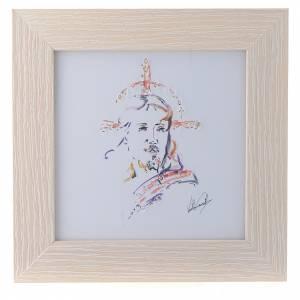 Bomboniere e ricordini: Quadro Cristo Speranza stampa acquarello 16x16