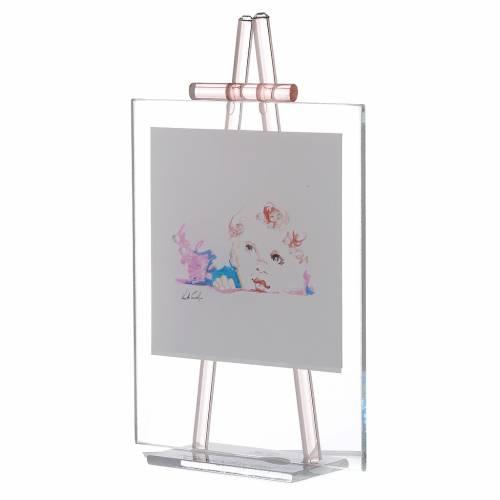 Quadro da appoggio in vetro custodiscimi 11x14 cm rosa for Porta quadro da appoggio