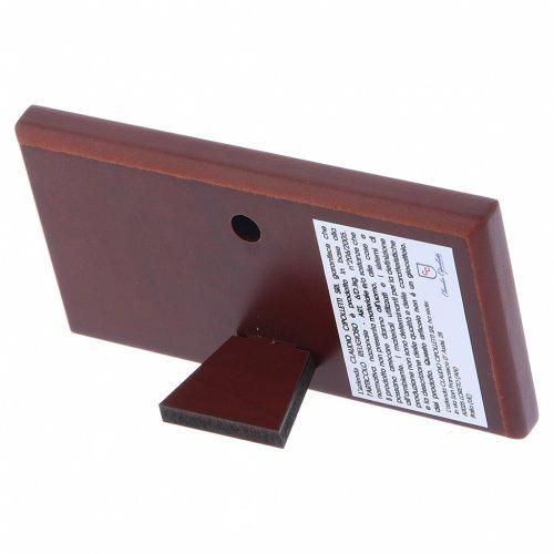 Quadro bilaminato retro legno pregiato Ultima Cena 4,7X9,4 cm s3