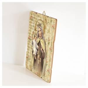 Quadro legno sagomato gancio retro Madonna del Carmelo s2
