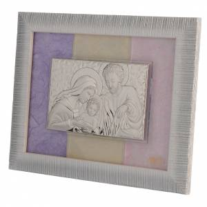 Quadro S. Famiglia Argento rosa - lilla 18x22 cm s2