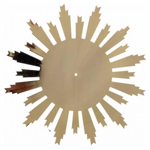 Raggiera ottone dorato raggi incisi 25 cm s2