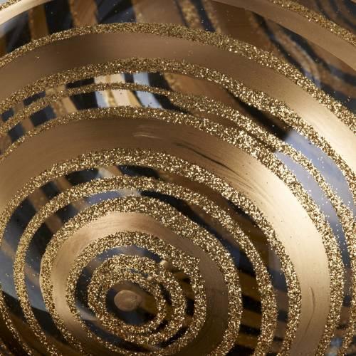 Árbol Navidad, bola de vidrio soplado decoraciones dorada s3