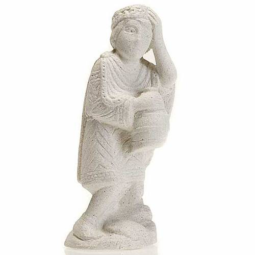 Re magio africano Presepe d'Autunno pietra bianca s1