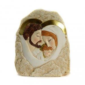Regalos y Recuerdos: Recuerdo Piedra S.Familia Abrazo 12,5x11,5 cm
