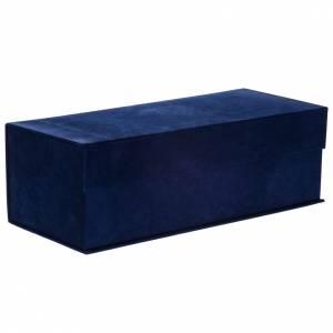 Relicario de plata 800, detalles en azul 36cm s17