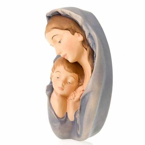 Relief Vierge avec enfant en bois s2