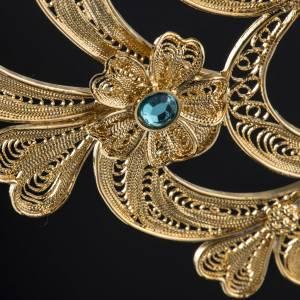 Reliquary in silver 800, golden filigree decoration, 36 cm s12