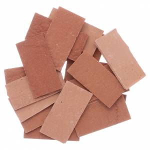 Home accessories miniatures: Resin tiles set of 20 pieces 35x20 mm