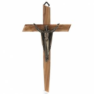 Wooden crucifixes: Resurrected Christ crucifix on olive wood.