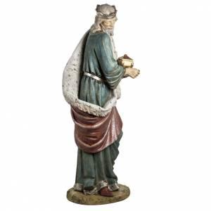 Rey Mago blanco 180 cm. resina Fontanini s7
