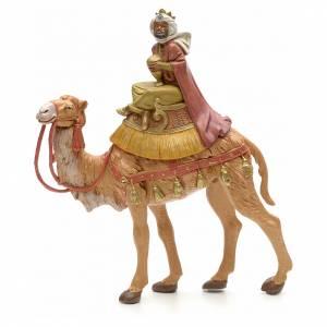 Rey mago moreno sobre camello 19cm Fontanini s1
