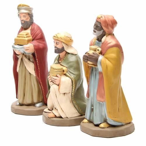 Reyes Magos terracota decorada belén 30 cm s2