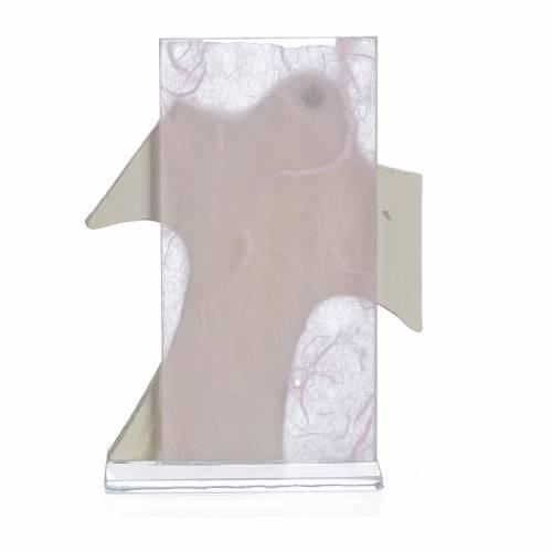 Ricordino Nascita Quadretto Croce Maternità rosa 11,5x8 cm s2