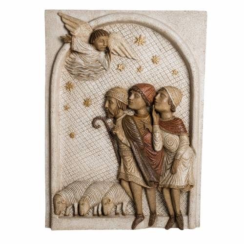 Rilievo Pastori pietra Bethléem Gran Presepe Autunno bianco s1