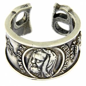 Gebetsringe: Ring Hl. Pius Silber 925