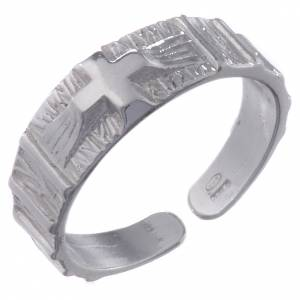 Gebetsringe: Ring mit Kreuz aus Silber 800 verstellbar