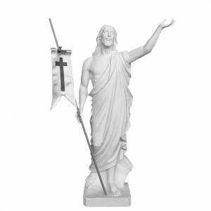 Reconstituted marble religious statues: Risen Jesus, 85 cm Reconstituted Carrara Marble Statue