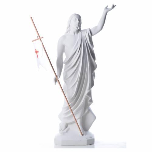 Risen Jesus statue in reconstituded Carrara marble, 100 cm s1