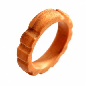 Obrączki z modlitwą: Różaniec obrączka drewno oliwkowe