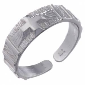 Obrączki z modlitwą: Różaniec obrączka regulowana srebro 800 krzyż