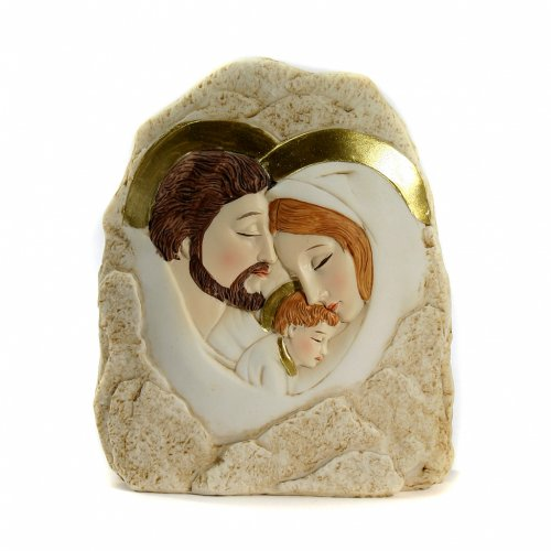 Rock Holy Family embrace 12,5x11,5cm s1