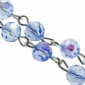 Rosario cristallo azzurro 6 mm s2