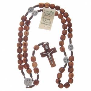 Rosari portarosari Medjugorje: Rosario Medjugorje croce olivo 9 mm