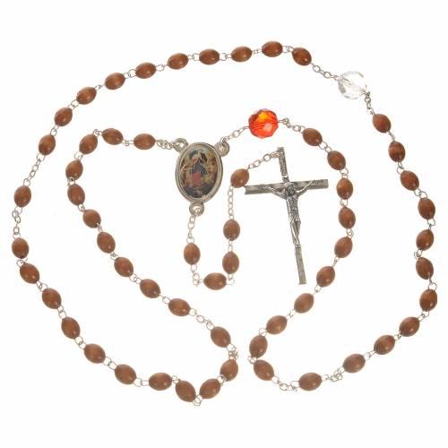 Rosario de la Virgen Desatanudos - Madera natural s4