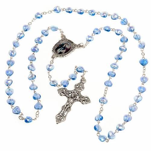 Rosario de vidrio azul Virgen Milagrosa s2