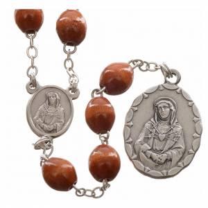 Rosario devocional marrón Virgen de los Dolores s1