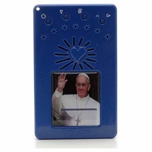 Rosario Eléctronico azul Papa Francisco saludando ITA s1