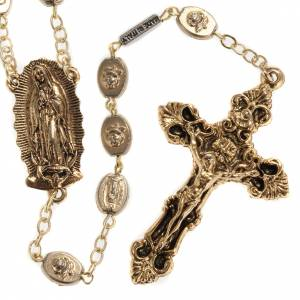 Rosario Ghirelli dorato Nostra Signora di Guadalupe 9 mm s1