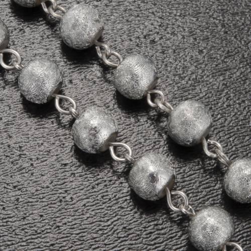 Rosario Ghirelli grotta Lourdes grigio argento 6 mm s5