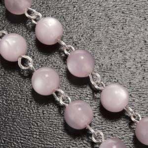 Rosario Ghirelli grotta Lourdes rosa argentato 6 mm s5