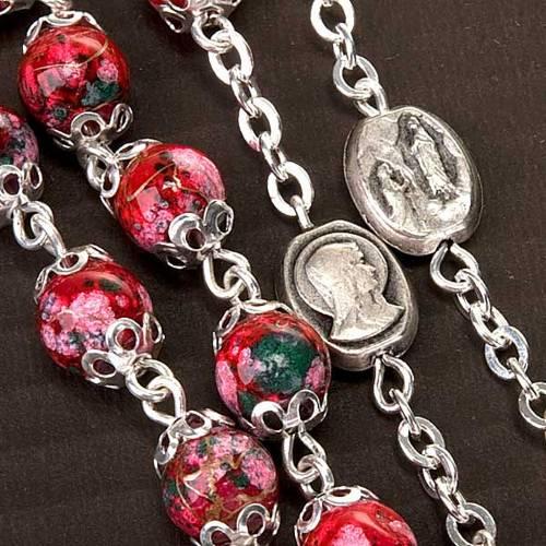 Rosario Ghirelli, vidrio rojo decorado s4