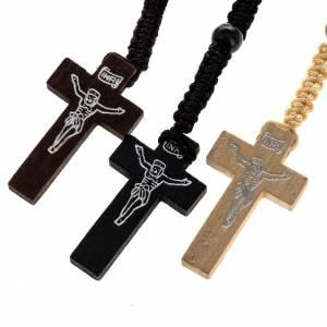 Rosari legno: Rosario in legno corda intrecciata