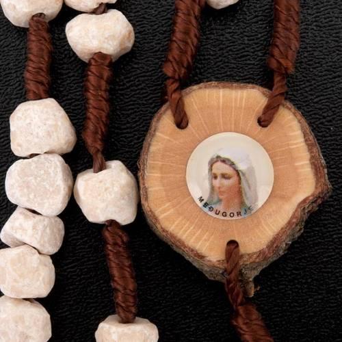 Rosario Medjugorje piedra madera y cuerda 5