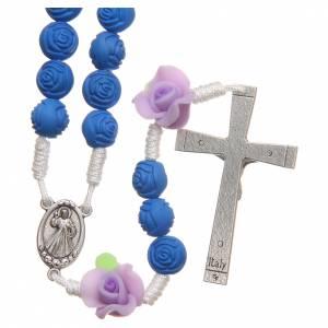 Rosario Medjugorje roselline blu s2