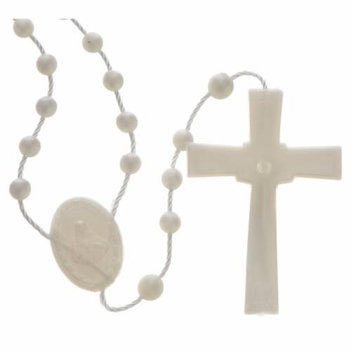 Rosario nylon perlato bianco 2
