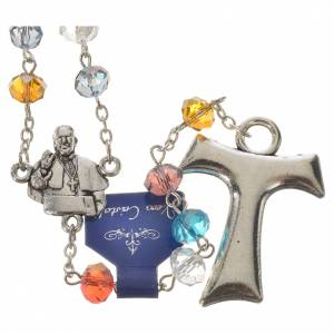 Rosari cristallo: Rosario Papa Francesco e San Francesco cristallo