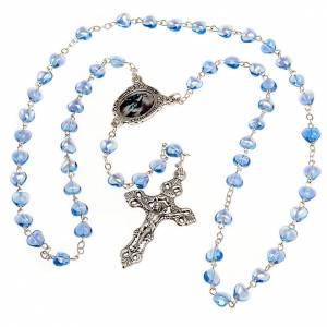 Rosario vetro blu Madonna Miracolosa s2