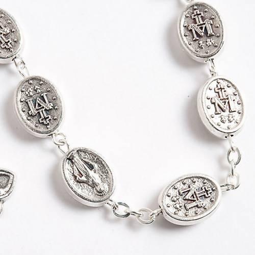 Rosario Virgen Milagrosa oval metal s2