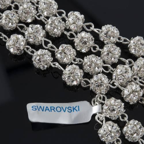 Rosary, 800 silver and swarovski, 6mm s5