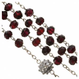 Rosary beads in 800 silver and garnet s4