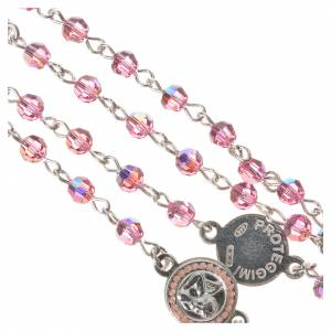 Rosary beads in 800 silver pink  Swarovski, Guardian Angel s4