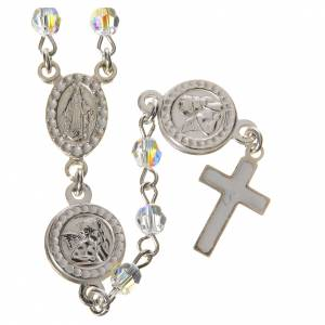 Rosary beads in 800 silver transp. Swarovski, Guardian Angel s1