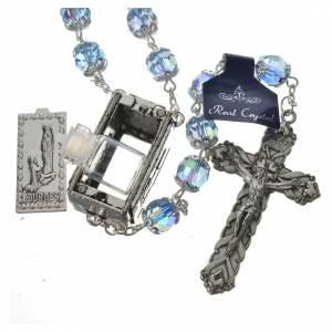 Rosary beads in crystal, 7mm Lourdes s5