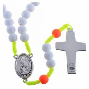 Rosary beads in white fimo, Pope Francis s2